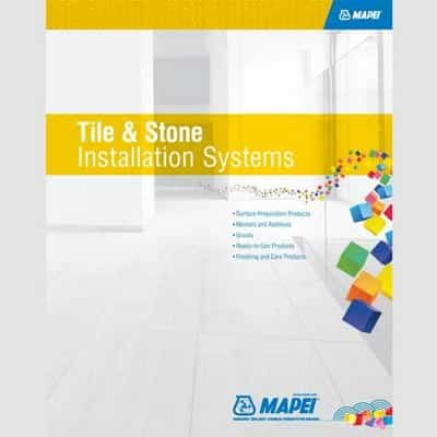 Tile & Stone Installation Systems Image