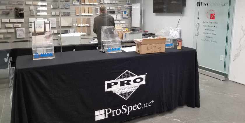 prospec, llc hosts large format porcelain panels
